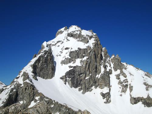 The Middle Teton seen from the summit of Disappointment Peak, June 9, 2013
