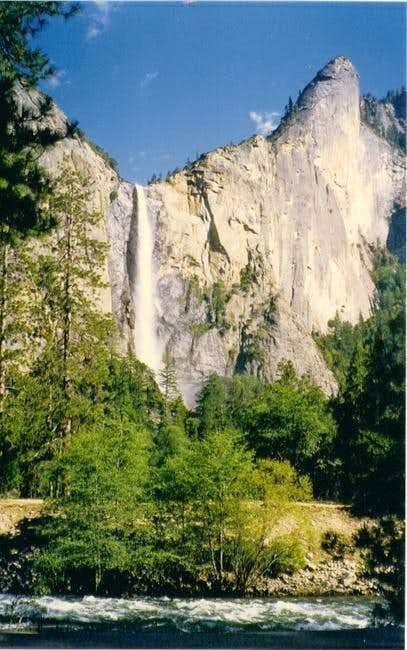 Leaning Tower with Bridalveil Falls