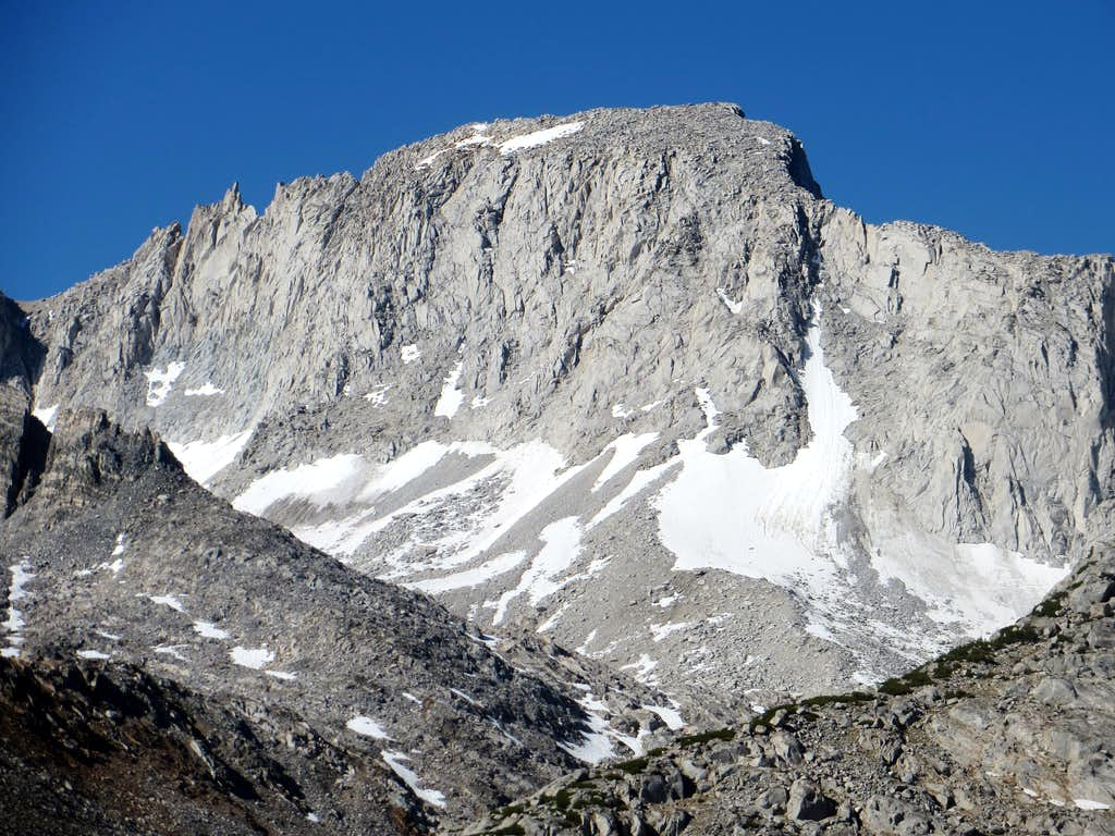 Zoom shot of Abbot while descending from Mono Pass