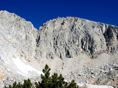 Zoom shot of Mono Pass Peak