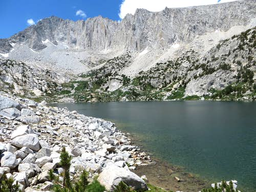 Ruby Peak (left) above Ruby Lake.