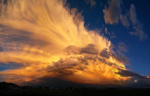 Spectacular sunset from Bozeman