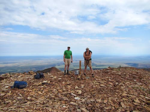 summit of Jarbidge Peak, Snake River plain on horizon