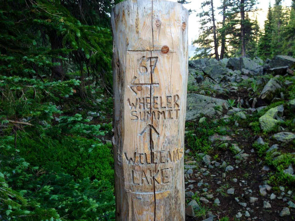 Summit trail marker