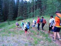 Leaving the Bear Creek trail