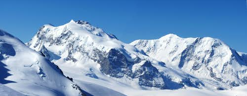 Lyskamm and Monte Rosa