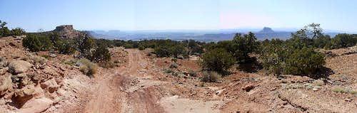 Wonderful views, terrible road