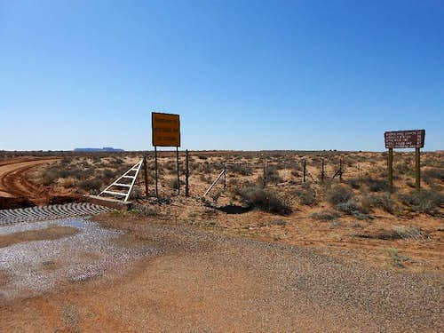 The easily-missed turn-off to Hans Flat Y& the Maze from Utah 24