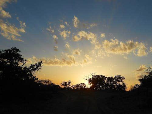 Memorable sunset drive