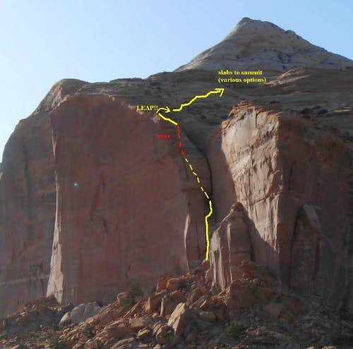 Cleopatras Chair, route overview