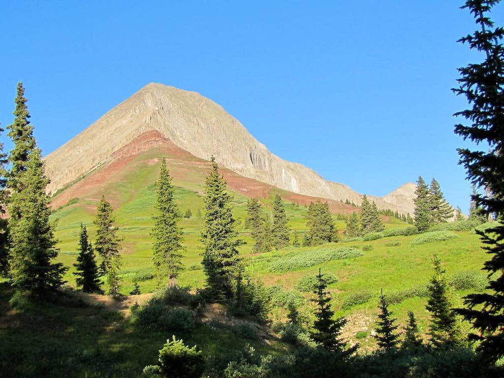 Engineer Mountain from near tree-line