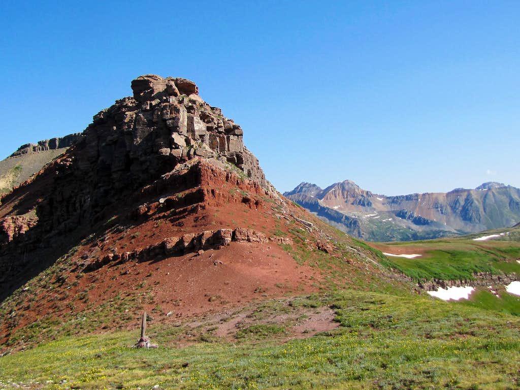 Base of the cliffs below the summit of Jura Knob