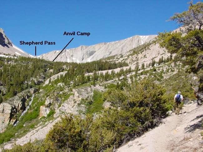 Climbing Shepherd Pass Trail...