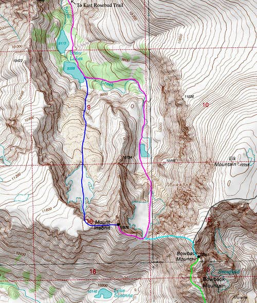 Mount Inabnit Topo Map