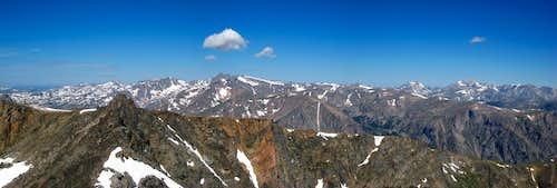 Mount Inabnit summit panorama