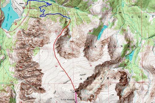 Sylvan Peak Topo Map