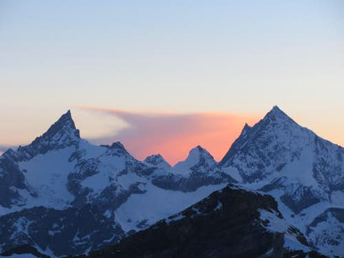 Weisshorn and Zinalrothorn