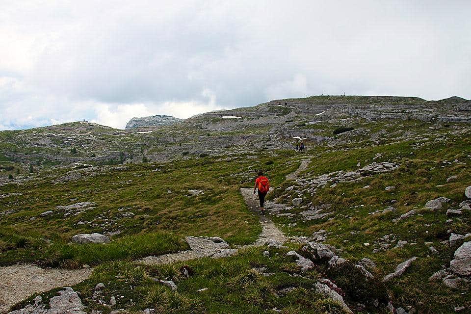 Towards Monte Ortigara