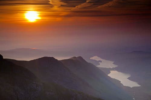 Sunset from Crib Goch