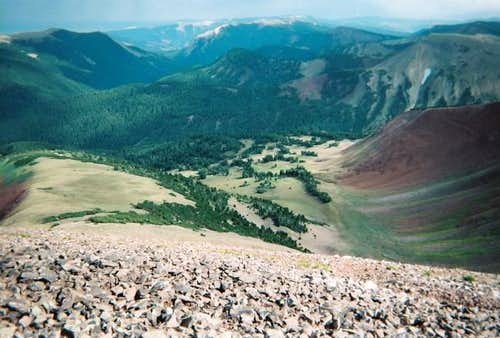 A view of the Wyoming Range.