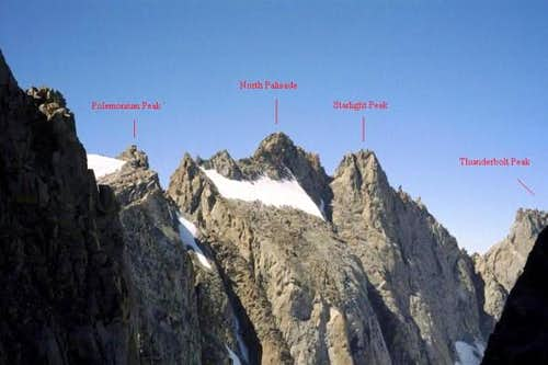 The Palisade Crest from Mount...
