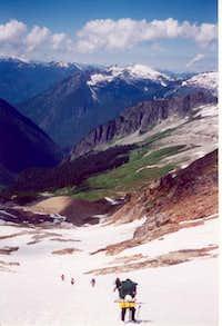 coming off of Sahale Peak,...
