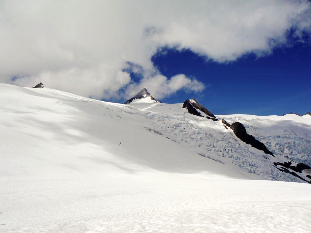 The summit from camp