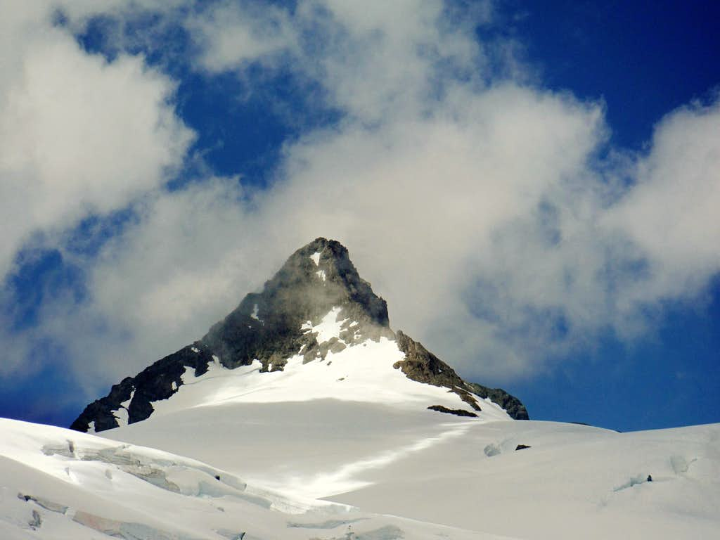 Clouds over the summit