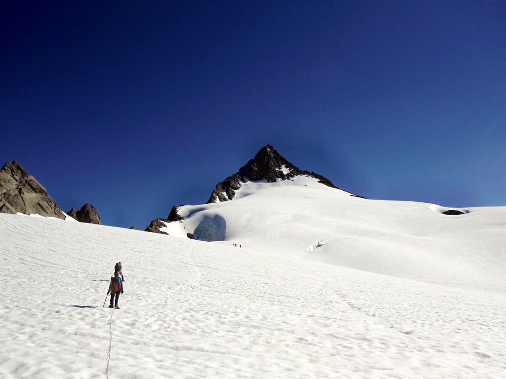 Heading for the summit