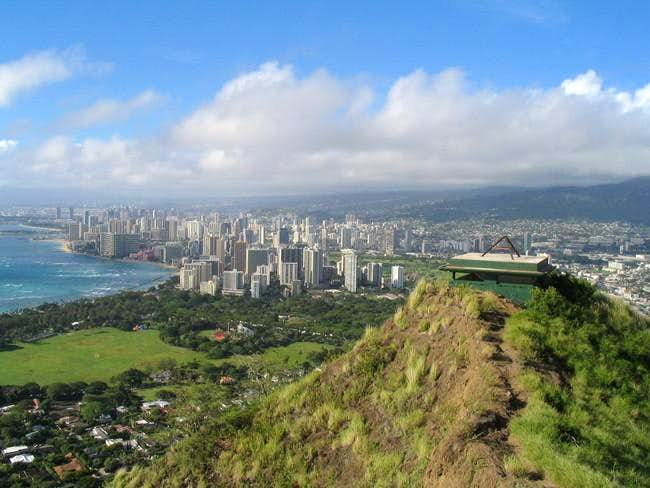 A view of Honolulu from the...