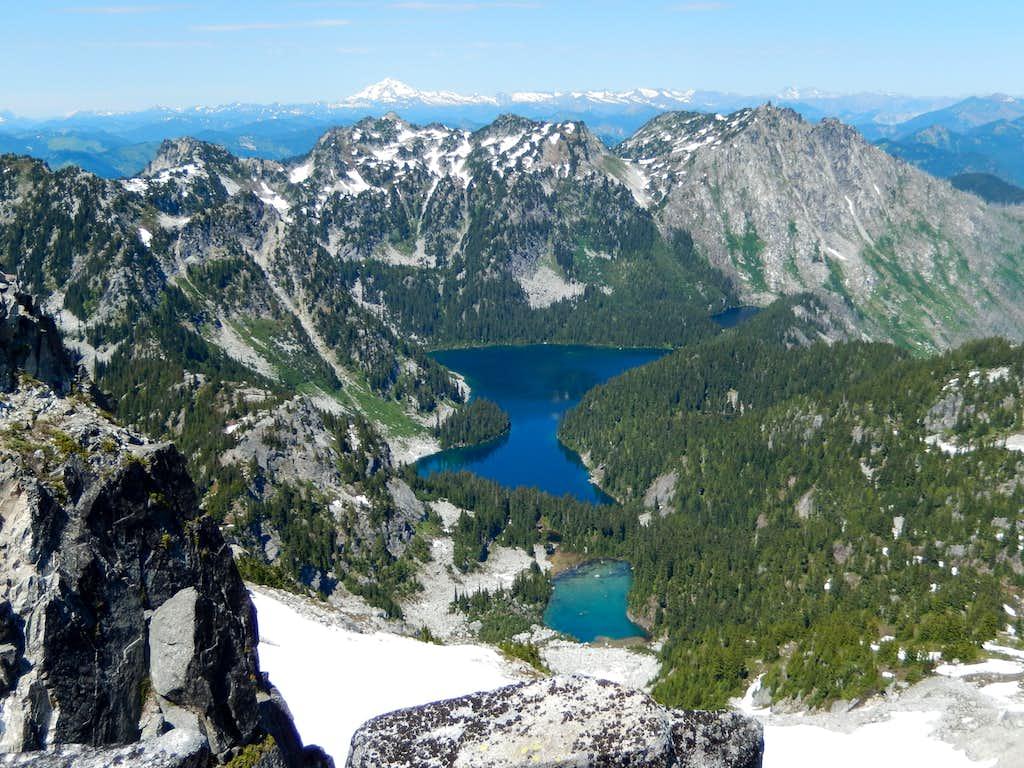 Square Lake and Nimbus, Thunder, and Thor Peaks