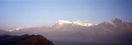 Panorama of Annapurna on the...