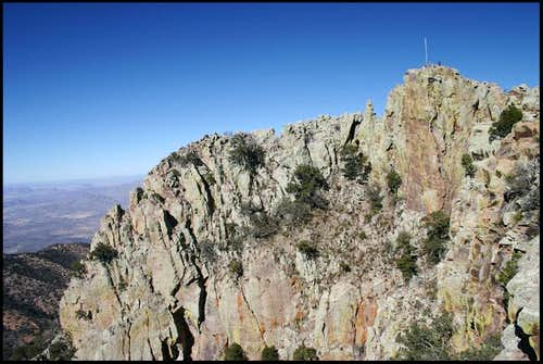 The west face of Emory Peak....