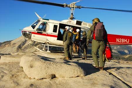 Search and Rescue Half Dome, Yosemite, CA