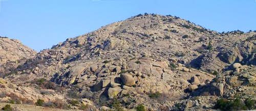 The rugged west face of...