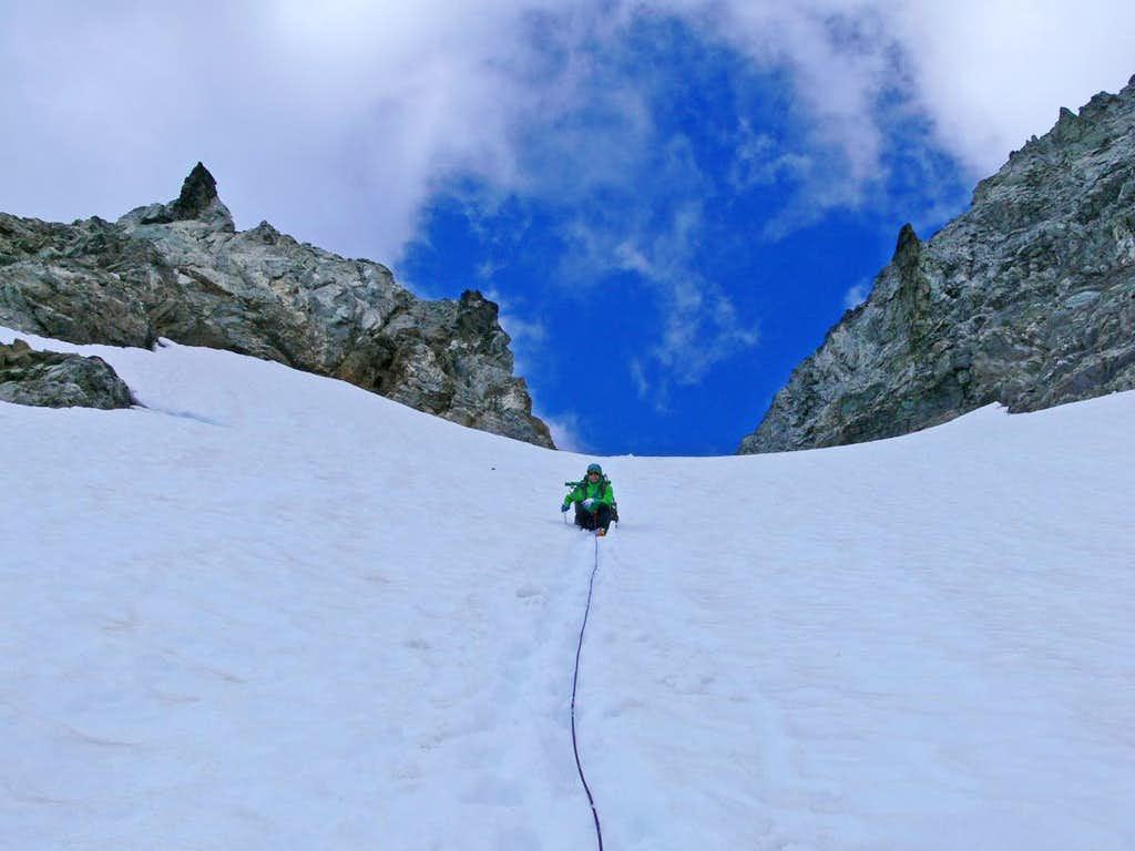Heading down the Formidable Col