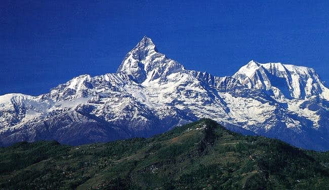 Machhapuchhre from Pokhara. ...