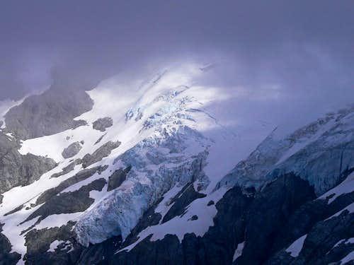 Le Conte Glacier though the Clouds