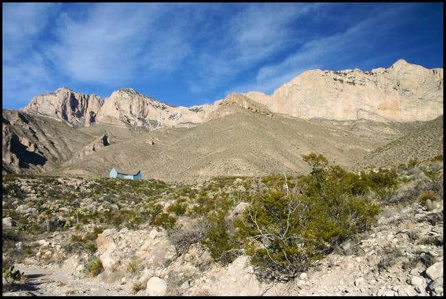 Guadalupe Peak's steep south...