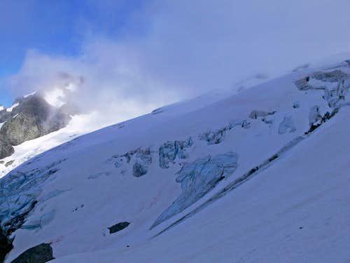 Crevasses on the Le Conte Glacier
