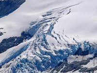 Crevasses on the Chickamin Glacier