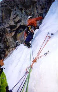Scott heading up from Belay...