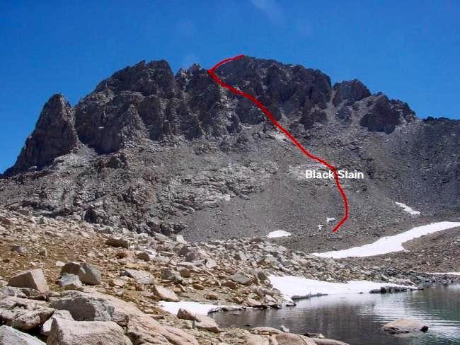 West Face route up Mt....
