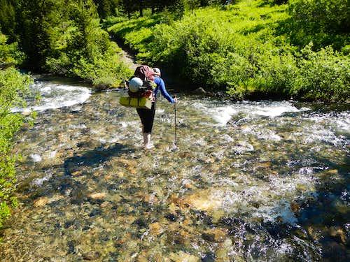 Crossing The Pasayten River