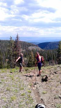 Descending Pelican Canyon