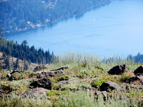 Donner Lake from the summit of Mount Judah