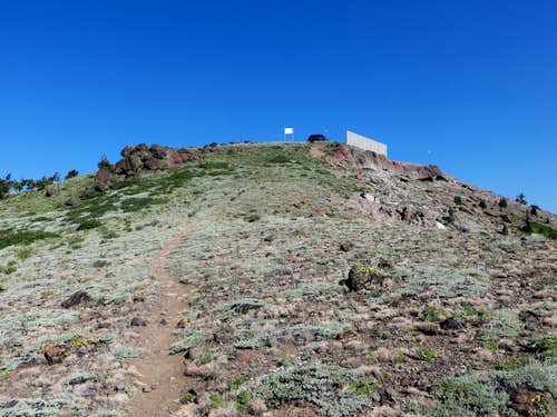 Final section to summit plateau