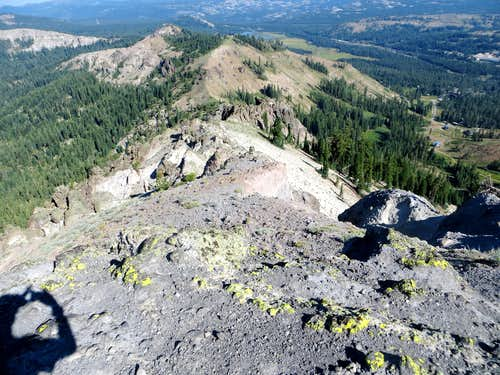 View down from Mount Lincoln summit