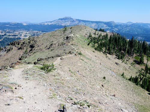 Mount Judah ridge and lower north summit seen from the true summit
