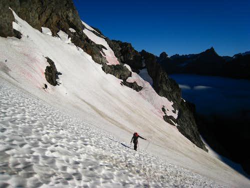 Climbing the Formidable glacier